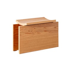 Curved Bench, Small, by RAIN, Contemporary Bench, Laminated Oak Wood