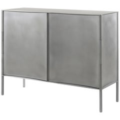 Curved Cabinet by Jonathan Nesci in Rolled and Machined Waxed Aluminum