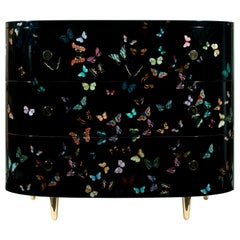 Curved Chest of Drawers Farfalle Color/Black