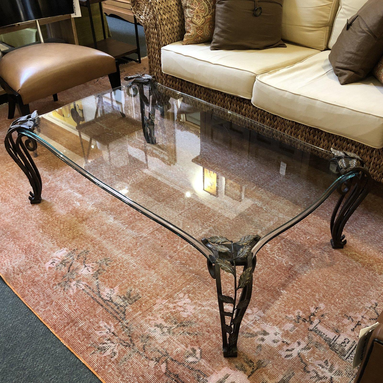 Curved Glass Coffee Table By Thomasville