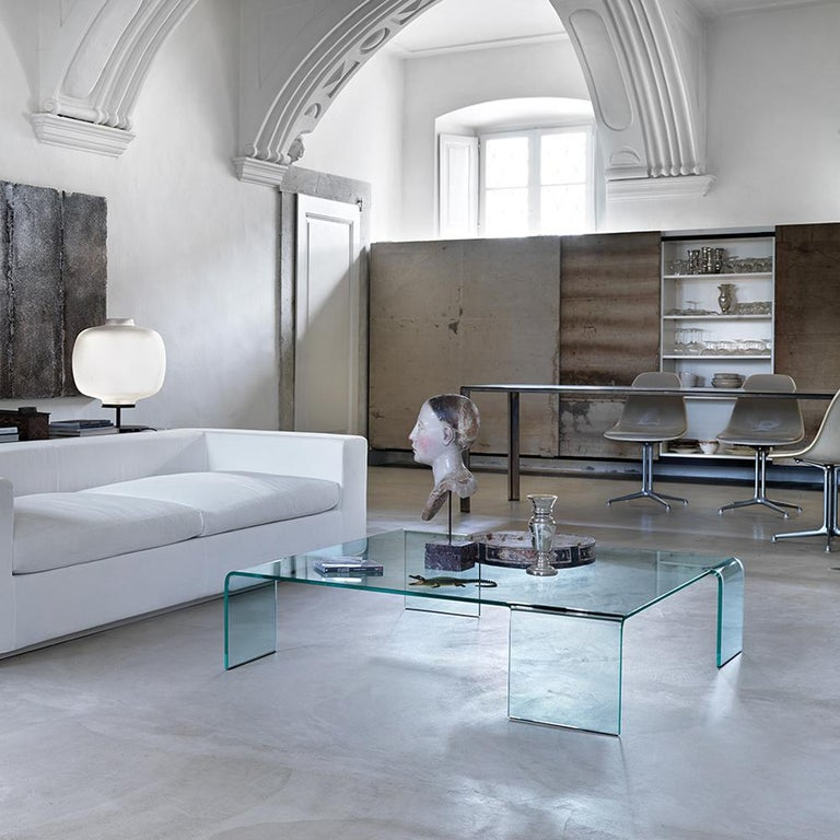 Curved Glass Coffee Table For Sale 1