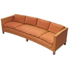 Curved Orange Sofa by Dunbar