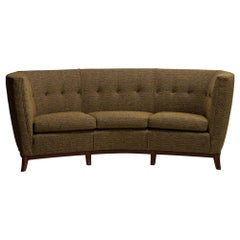Curved Sofa in Wool Blend from Pierre Frey