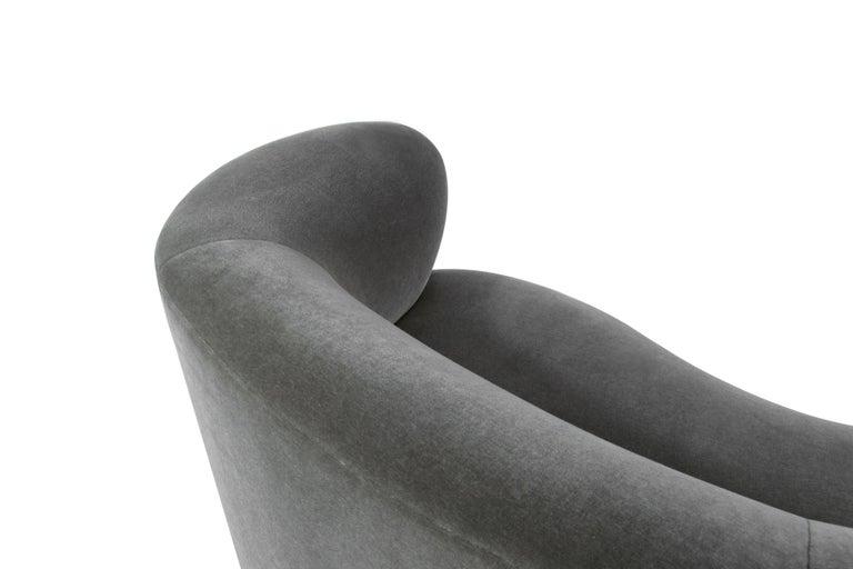 Curved Sofa by Vladimir Kagan in Grey Mohair 5