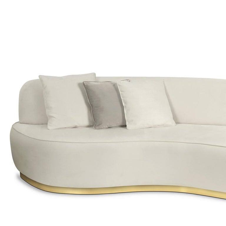 curved white sofa for sale at 1stdibs. Black Bedroom Furniture Sets. Home Design Ideas