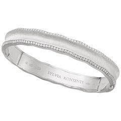 """Curves"" 18 Karat White Gold and Diamond Bracelet, UQ9W"