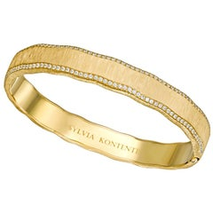 """Curves"" 18 Karat Yellow Gold and Diamond Bracelet, U9"