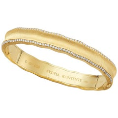 """Curves"" 18 Karat Yellow Gold and Diamond Bracelet, UQ9"