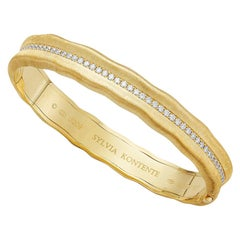 """Curves"" 18 Karat Yellow Gold and Diamond Bracelet, UQC9"