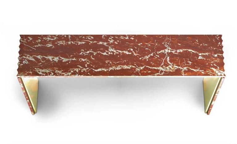 Modern Curves Marble Console by Marmi Serafini For Sale
