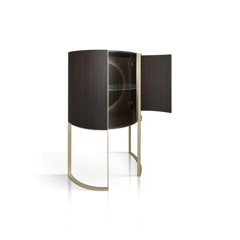 Modern Curvy Display Cabinet For Sale