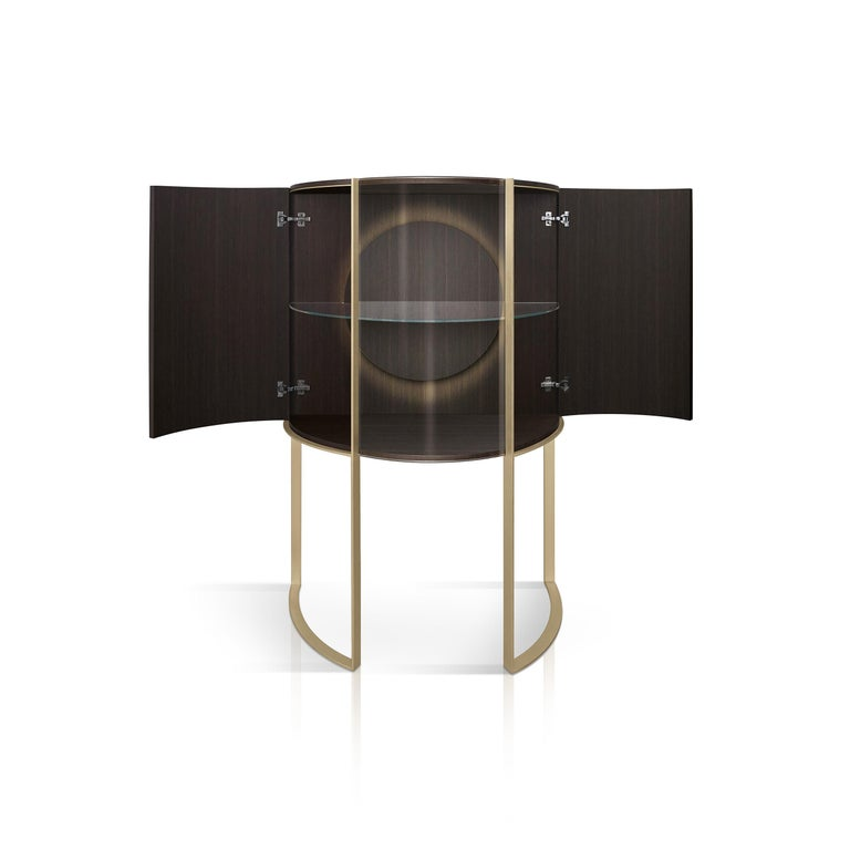 Italian Curvy Display Cabinet For Sale