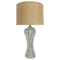 Curvy Glass Table Lamp by Cindy Ciskowski