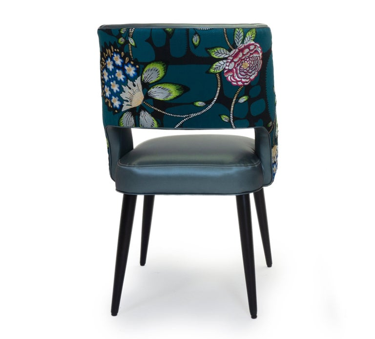 Curvy High Back Dining Room Chairs For Sale 3