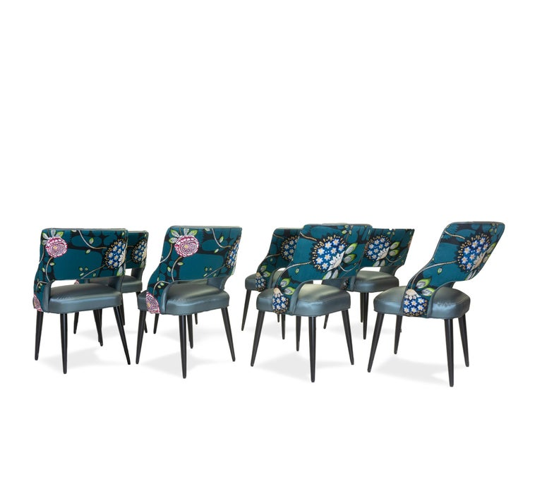 Curvy High Back Dining Room Chairs For Sale 10