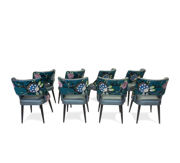 Curvy High Back Dining Room Chairs For Sale 11