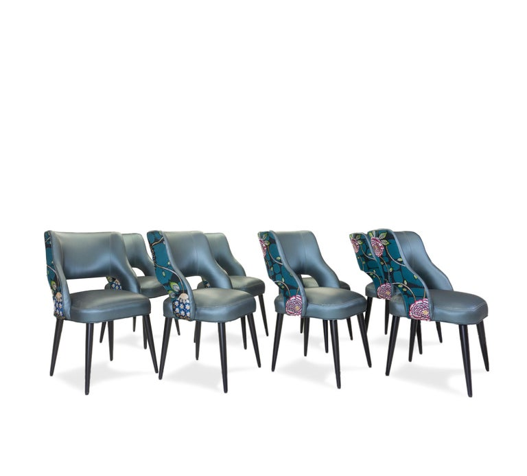 Curvy High Back Dining Room Chairs For Sale 12