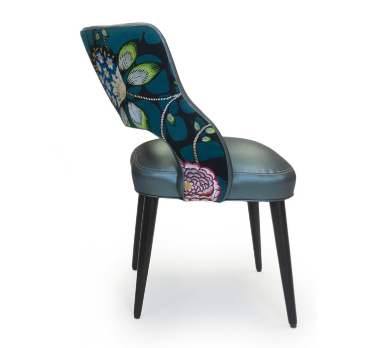 Modern Curvy High Back Dining Room Chairs For Sale