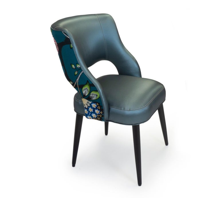 Contemporary Curvy High Back Dining Room Chairs For Sale