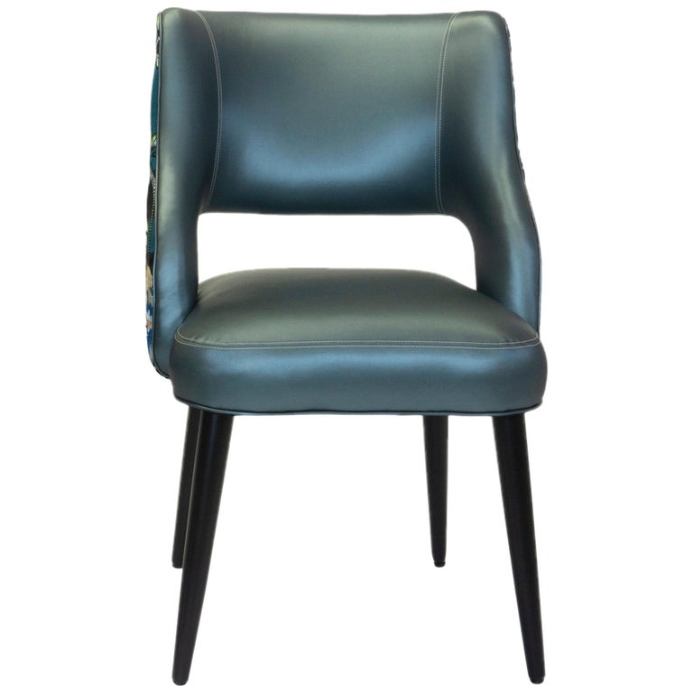 Curvy High Back Dining Room Chairs For Sale