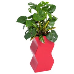 Curvy Planter by Pieces, Red Fiberglass Planters