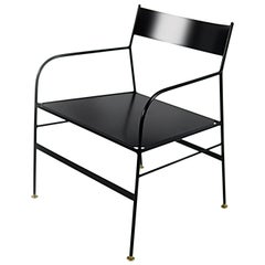 Curzio Chair with Iron Structure Made in Italy