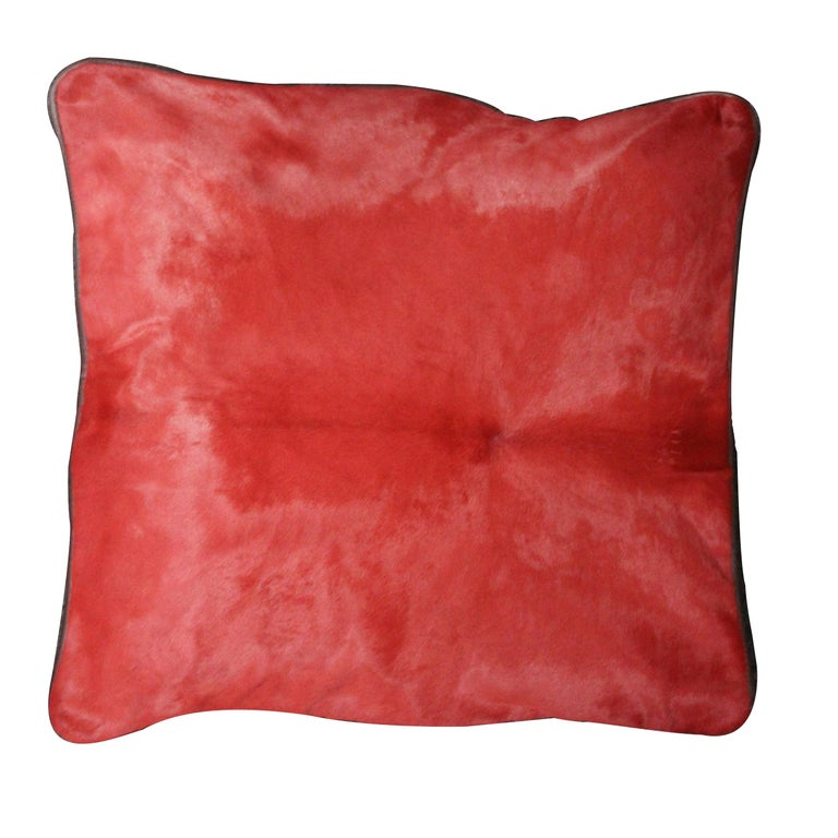 Cushion Calf Leather, Soft Vegetable Dyed Cushion In New Condition For Sale In Alcoy, Alicante