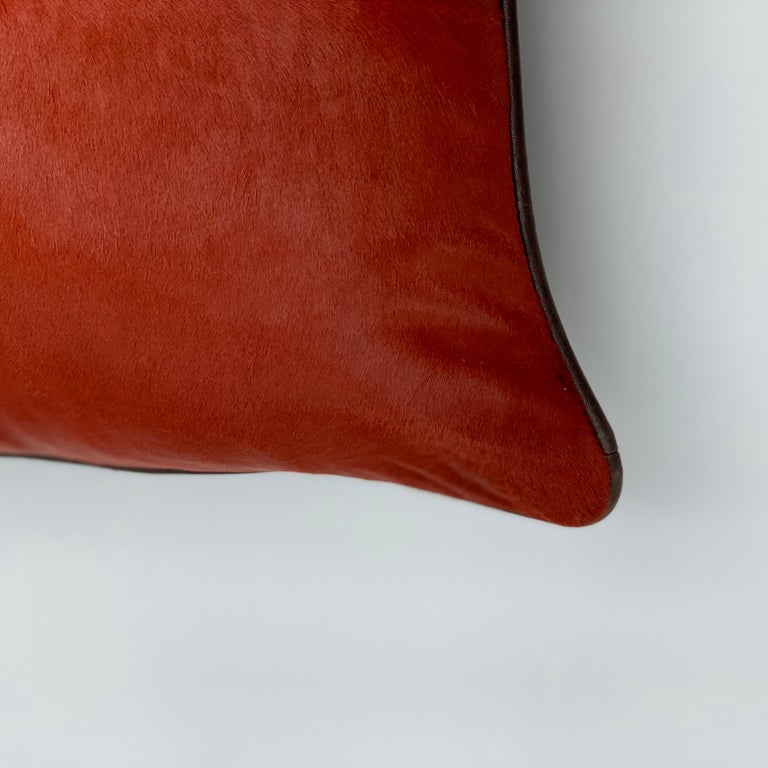 Contemporary Cushion Calf Leather, Soft Vegetable Dyed Cushion For Sale
