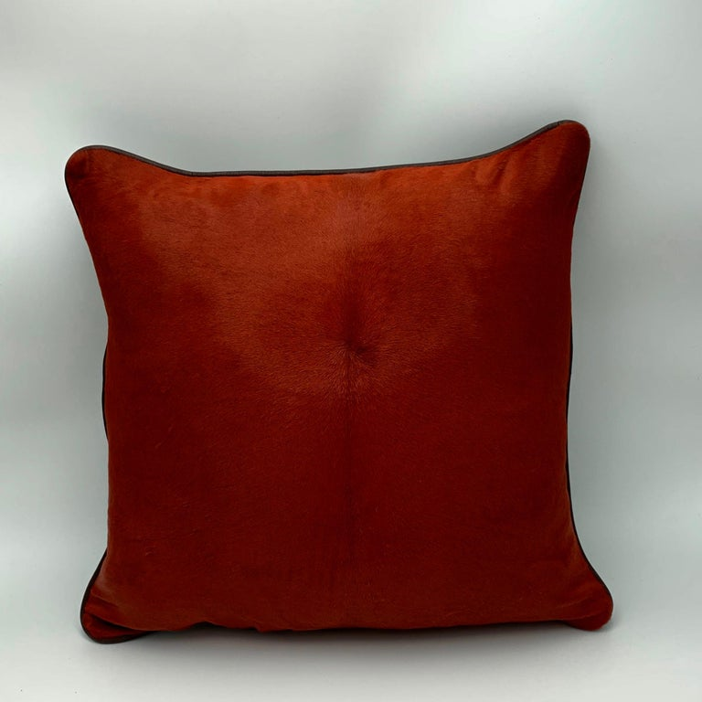 Hide Cushion Calf Leather, Soft Vegetable Dyed Cushion For Sale