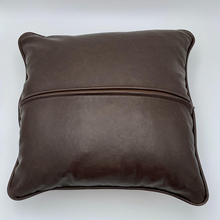 Cushion Calf Leather, Soft Vegetable Dyed Cushion For Sale 1