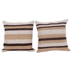 Cushion Covers or Pillows Fashioned from a Mid-20th Century Anatolian Hemp Kilim