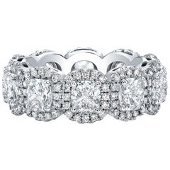 Cushion Cut Diamond Eternity Band