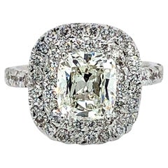 Cushion Cut Diamond GIA 2.16 Carat Engagement Ring