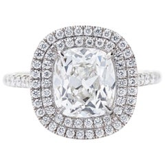 Neil Lane Couture Cushion-Cut Diamond, Platinum Engagement Ring