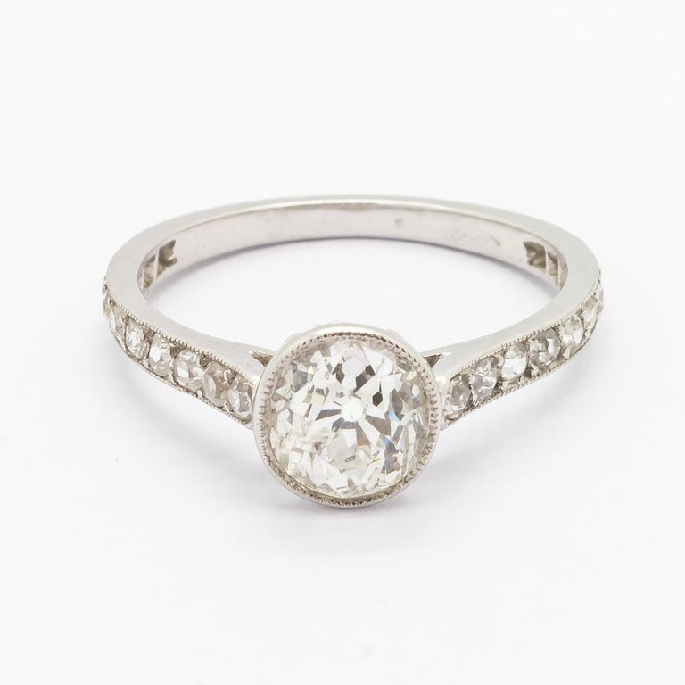 Cushion Cut Diamond Ring, 1.20 Carat In Good Condition For Sale In London, GB