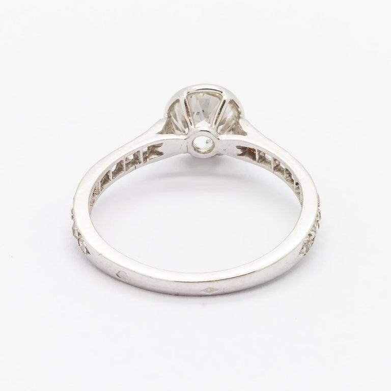 Cushion Cut Diamond Ring, 1.20 Carat For Sale 1