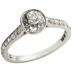 Cushion Cut Diamond Ring, 1.20 Carat