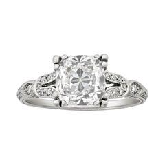 Cushion-Cut Diamond Ring, 2.01 Carats