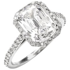 Cushion Diamond GIA F-VVS2 Platinum Engagement Ring