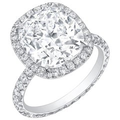 Neil Lane Couture Cushion Diamond, Platinum Engagement Ring