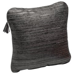 Cushion in Woven Snakeskin by Kifu Paris