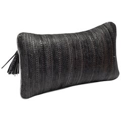 Cushion in Woven Snakeskin by Kifu Paris