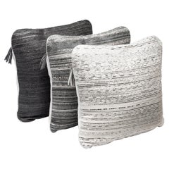 Cushion Set in Woven Snakeskin by Kifu, Paris