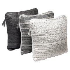 Cushion Set in Woven Snakeskin by Kifu, Paris