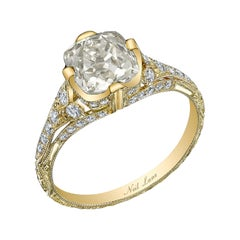 Neil Lane Couture Cushion-Shaped Diamond, 18K Yellow Gold Engagement Ring