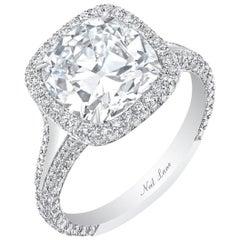 Neil Lane Couture Cushion-Shaped Diamond, Platinum Ring