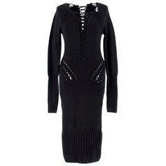 Cushnie Et Ochs black lace front knit dress - Size US 2-4