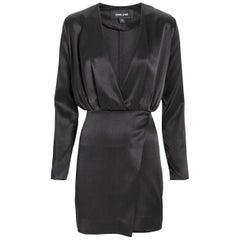 Cushnie Et Ochs Elin Blouson Silk Mini Dress