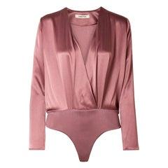 Cushnie Et Ochs Lina Wrap-Effect Silk Bodysuit