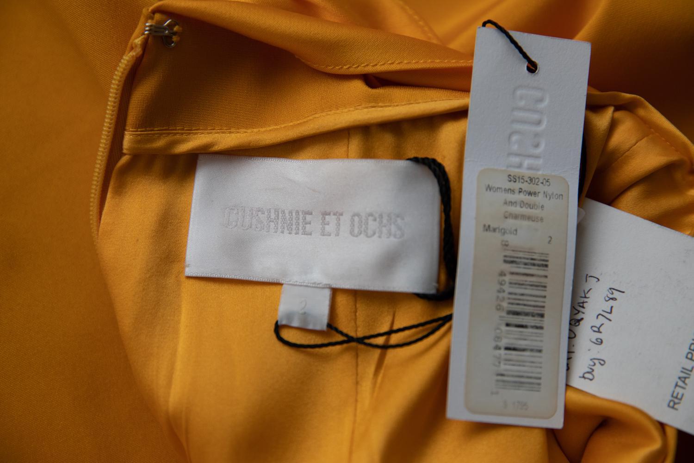 9b773060831e Cushnie et Ochs Marigold Yellow Sheath Dress For Sale at 1stdibs